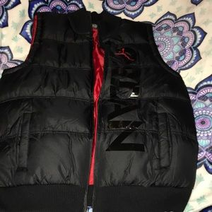 NWT Boys Black and Red puffer vest